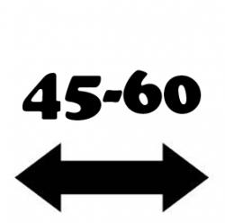 Anchura de 45 a 60 cm.