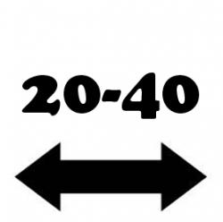 Anchura de 20 a 40 cm.