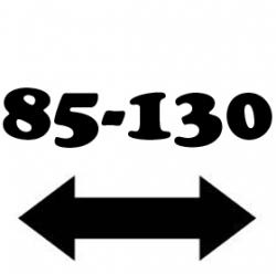 Anchura de 85 a 130 cm.